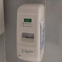 Dispensador de jabón sin contacto para un higiénico lavado de manos